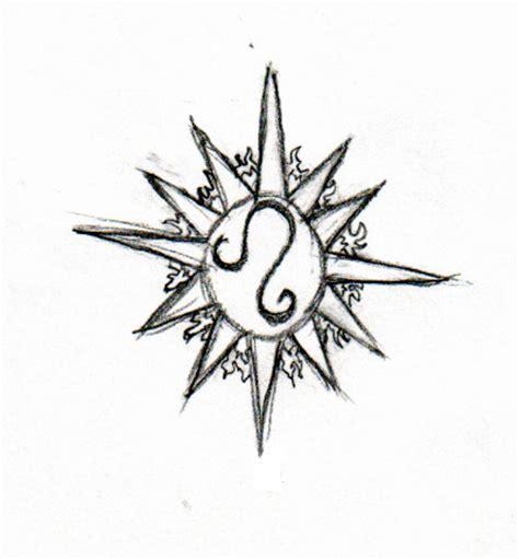 sun and leo zodiac design tattooshunt