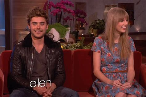 ellen degeneres zac efron taylor swift zac efron dish on dating rumors during