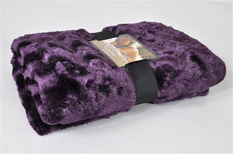 Blankets With Pictures Luxury Faux Fur Throw Blanket In Purple Lancashire Textiles
