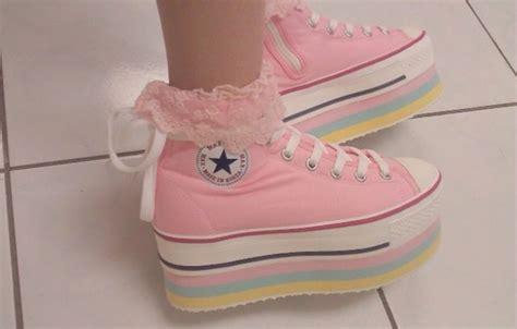 shoes converse platform shoes kawaii kawaii shoes