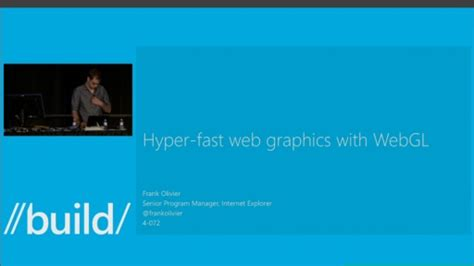 Code Section 165 by Hyper Fast Web Graphics With Webgl Build 2013 Channel 9