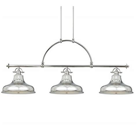 elstead emery 3 light linear island ceiling pendant