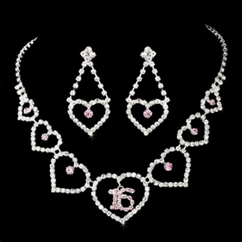 heartquinceanera jewelry set sweet 16 jewely set every