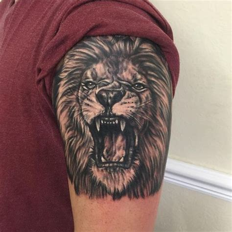 lion roaring tattoo top 30 excellent roaring ideas 2019