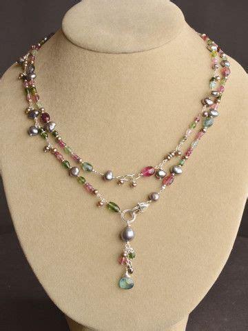 jewelry designs to make wildflower tourmaline lariat wire l wren