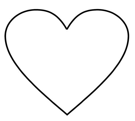 small heart shape template clipart best