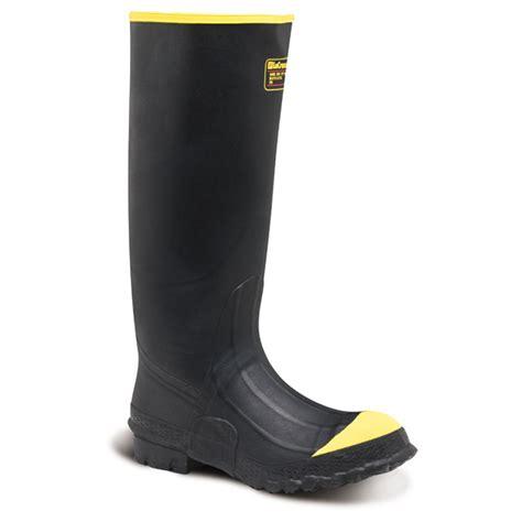 steel toe rubber work boots s lacrosse 174 16 quot premium steel toe knee work boots