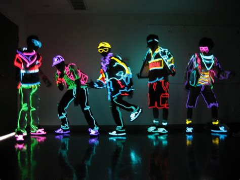 Tron Light Dance dope neon clothing shockblast