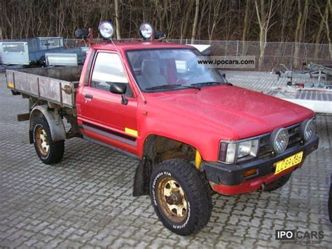 1987 Toyota Specs 1987 Toyota Hilux Car Photo And Specs