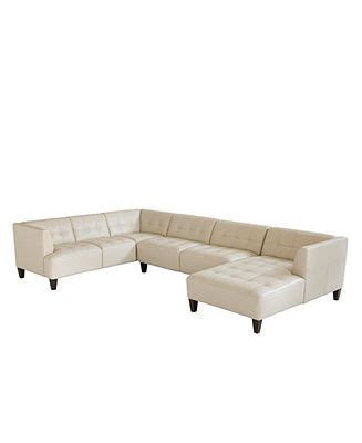 alessia leather 3 sectional sofa