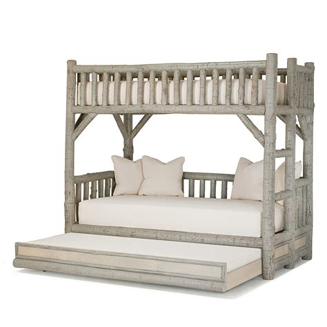 rustic bunk bed with trundle 4259l 4259r