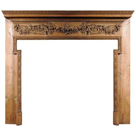 19th Century Country Style Pine 19th Century George Iii Style Pine Chimneypiece For Sale At 1stdibs