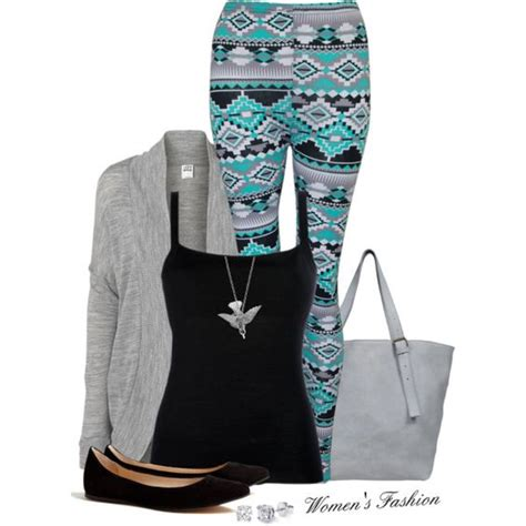 tribal pattern leggings outfit cute leggings grey sweater and grey on pinterest
