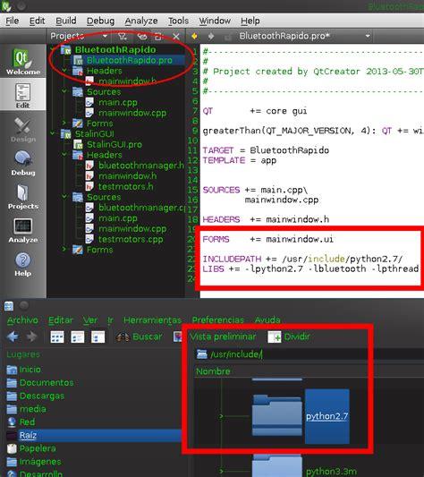 tutorial python qt5 el programador subest 225 ndar bluetooth linux qt c c