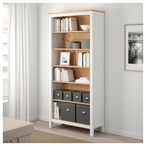 Hemnes Bookcase White Stain Light Brown 90x197 Cm Ikea Ikea Hemnes White Bookcase