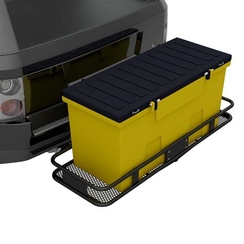 cargo box trailer omi hitch cargo carrier tough box with tie kit