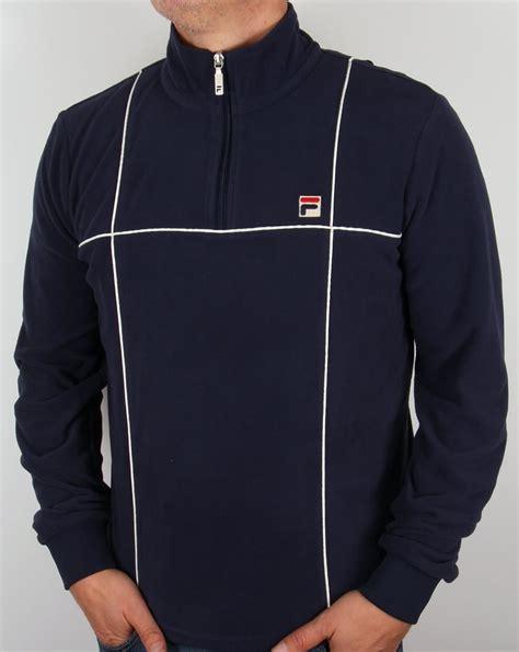 Jaket Sweater Hoodie Zipper Navy fila vintage microfleece navy zip up quarter sweater jacket