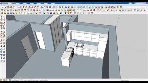 google sketchup modeling tutorial google sketchup tutorial part 03 kitchen modeling