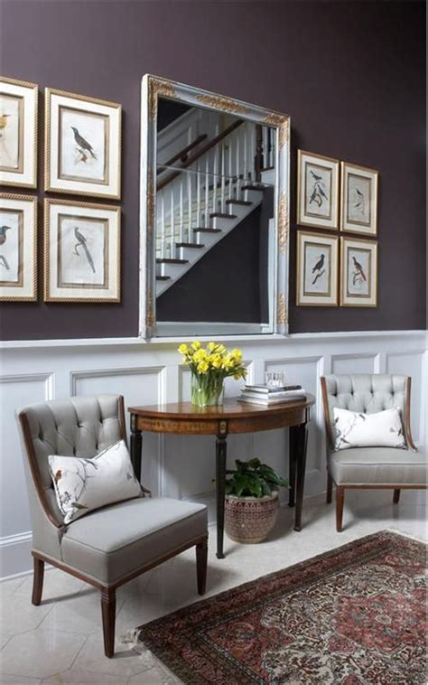 Foyer Seating wainscoting and seating area in this entryway entryways foyers homechanneltv
