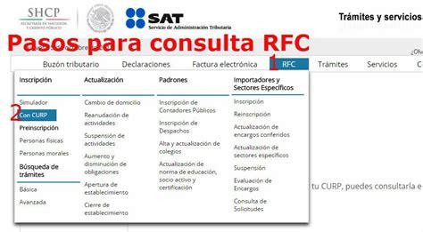 como sacar el rfc y curp por internet realiza tu consulta rfc aprende c 243 mo hacerlo