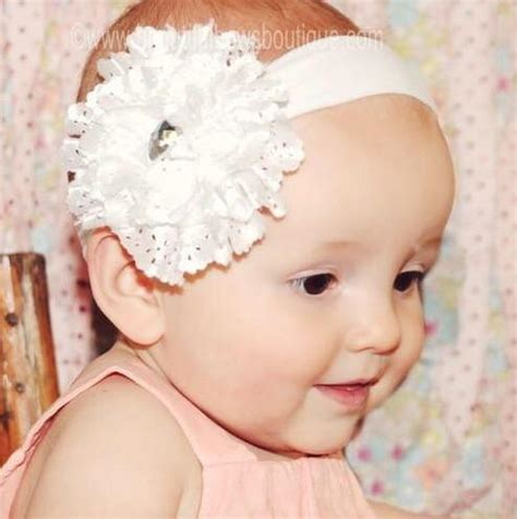beautiful eyelet baby headband buy white lace flower baby headband at