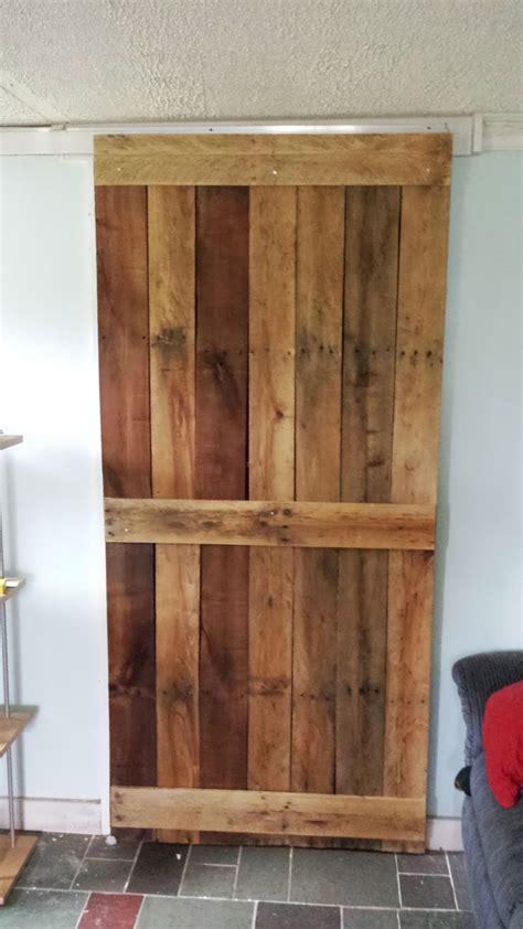 pallet door on sliding track home pinterest track