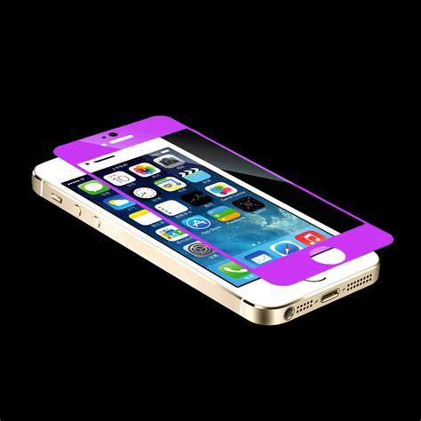 Iphone 6 55 3d Unggu Purple Tempered Glass For Iphone 1 wholesale front back electroplate mirror tempered glass arch edge screen protect for
