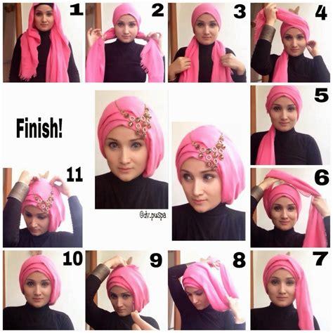 tutorial turban formal modern hijab styles step by step tutorials 2018 fashionglint