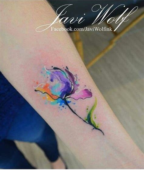 watercolor tattoos flower watercolor flower by javi wolf tattoos