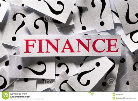 questions   finance stock photo image