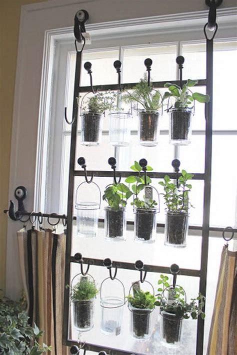 indoor garden ideas indoor garden from hooks and rods cool diy indoor herb