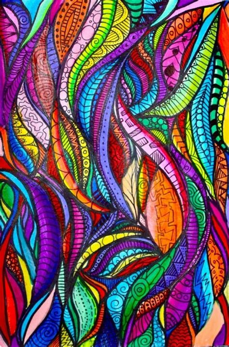 colorful zentangle zentangle rainbow colorful doodle zentangle