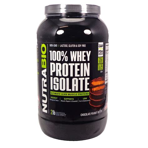 Whey Isolate 100 100 Whey Protein Isolate Chocolate Peanut Butter By