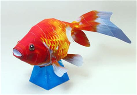 Papercraft Fish - goldfish papercraft free papercrafts paper models