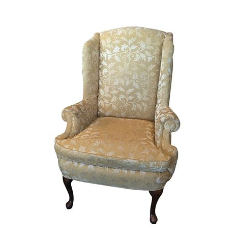 Gold Wing Back Chairs by Gold Damask Wing Back Chair Haute Juice