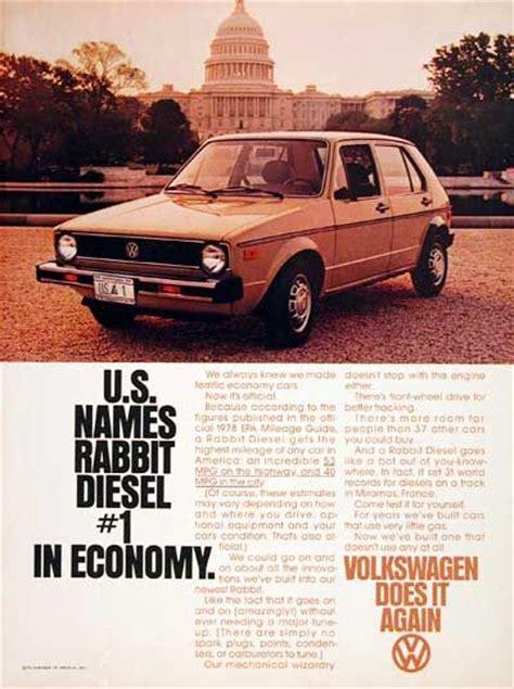 old diesel volkswagen 1978 volkswagen rabbit diesel sedan vintage ad achieves