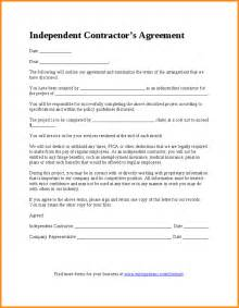 contractor agreement template 7 independent contractor agreement sle workout