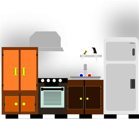 Kitchen Cabinet Contact Paper Kitchen Clipart 10661 Free Clip Art Images