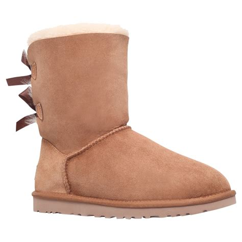 ugg bailey bow boots in brown chestnut lyst