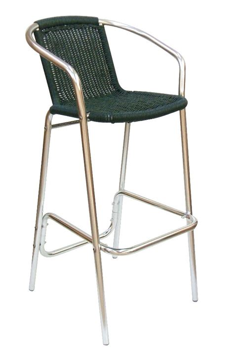 outdoor bar stools uk outddor aluminium high stool with arms monaco online reality