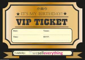 20 vip ticket invite birthday invitations boys adults ebay