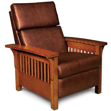 wood arm recliner simply amish grand rapids high leg recliner with wood arms