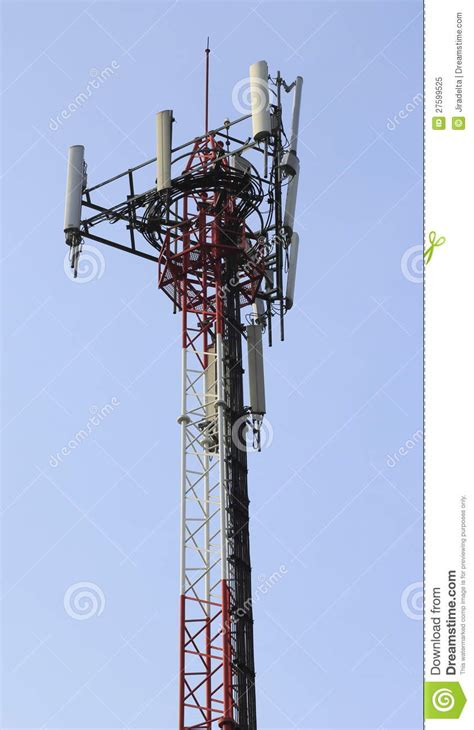 cell phone antenna tower stock image image  telecommunication