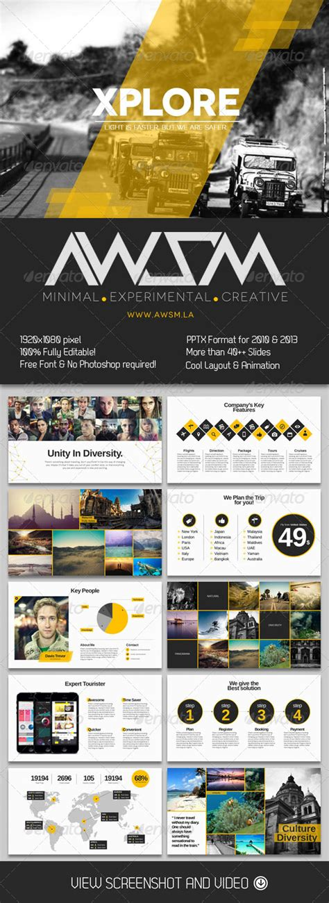 the artsy magazine powerpoint template free download