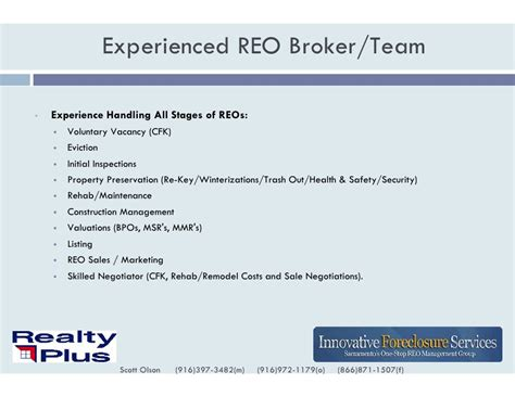 Reo Broker Cover Letter by Broker Resume Experienced Reo Broker Quality Valuat