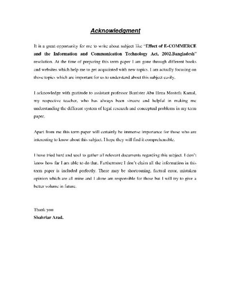 thesis acknowledgement generator acknowledgement for research paper doc how to write
