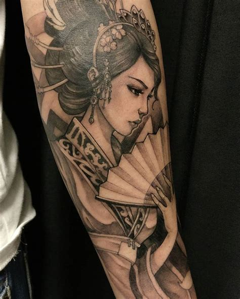 samurai tattoo with geisha the 25 best geisha tattoo design ideas on pinterest