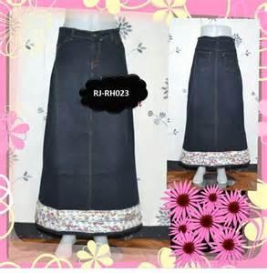 Flare Skirt Denim Rok Denim Rok Cantik Murah Rok Denim Murah rok panjang bahan denim www outletbusanamuslim