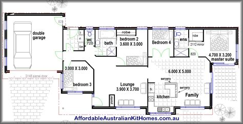 Four Bedroom House Plan by 4 Bedroom House Plans Kit Homes Australian Kit Homes