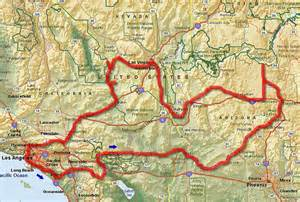 map arizona california